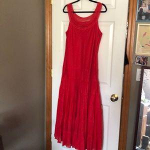 Size 14 Red, ruffle bottom Jones Wear Dress